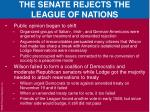 the senate rejects the league of nations5