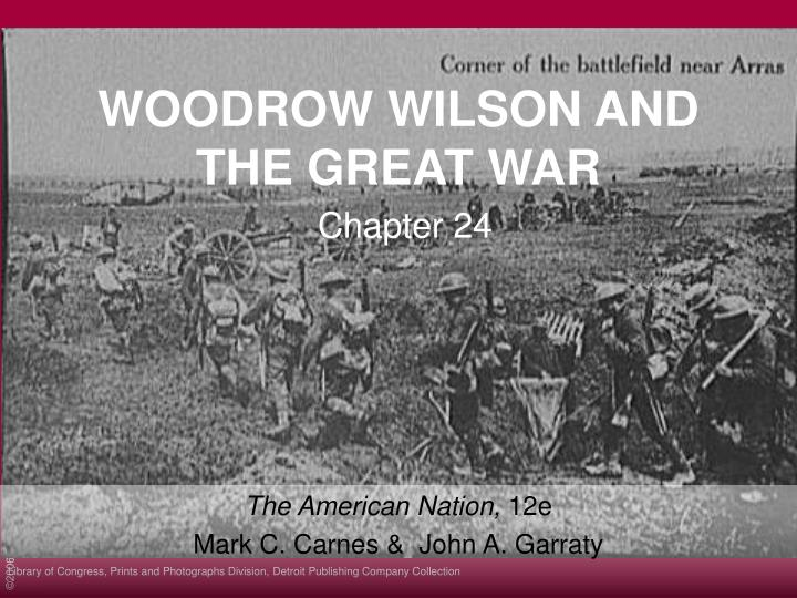 woodrow wilson and the great war n.