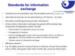 standards for information exchange