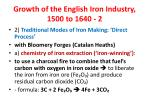 growth of the english iron industry 1500 to 1640 2