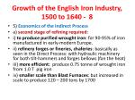growth of the english iron industry 1500 to 1640 8