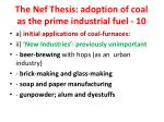 the nef thesis adoption of coal as the prime industrial fuel 10