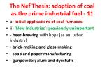the nef thesis adoption of coal as the prime industrial fuel 11