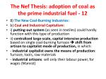 the nef thesis adoption of coal as the prime industrial fuel 12