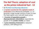 the nef thesis adoption of coal as the prime industrial fuel 13