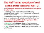 the nef thesis adoption of coal as the prime industrial fuel 2
