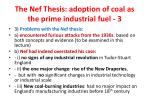 the nef thesis adoption of coal as the prime industrial fuel 3