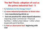 the nef thesis adoption of coal as the prime industrial fuel 51
