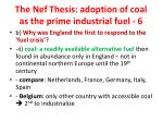 the nef thesis adoption of coal as the prime industrial fuel 6