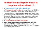 the nef thesis adoption of coal as the prime industrial fuel 61