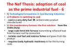 the nef thesis adoption of coal as the prime industrial fuel 62