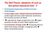 the nef thesis adoption of coal as the prime industrial fuel 7