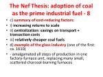 the nef thesis adoption of coal as the prime industrial fuel 8