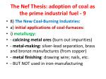 the nef thesis adoption of coal as the prime industrial fuel 9