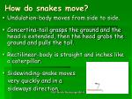 how do snakes move