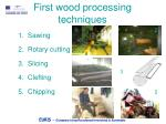 first wood processing techniques