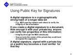 using public key for signatures