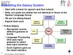 extending the galaxy system
