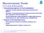 macroeconomic trends u s labor households1