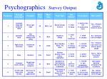 psychographics survey output