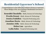 residential governor s school