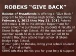 robeks give back