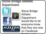 stone bridge athletic department