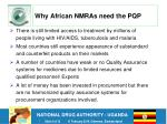why african nmras need the pqp
