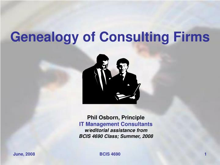 genealogy of consulting firms n.