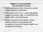 matters of life and death life and death choices1