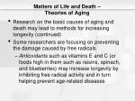 matters of life and death theories of aging9