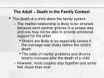 the adult death in the family context10