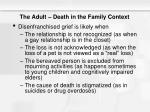 the adult death in the family context7