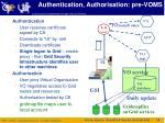 authentication authorisation pre voms