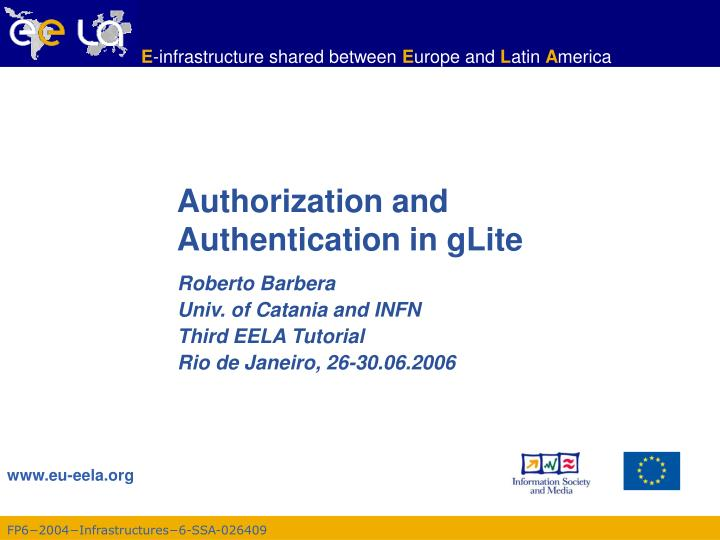 authorization and authentication in glite n.