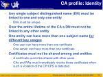 ca profile identity
