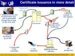 certificate issuance in more detail