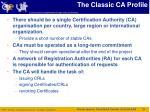 the classic ca profile