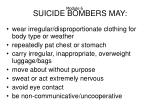suicide bombers may