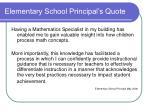 elementary school principal s quote
