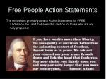 free people action statements