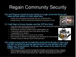 regain community security