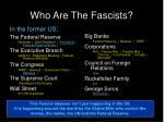 who are the fascists