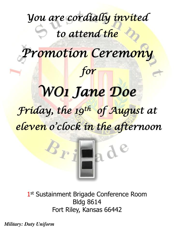 PPT You are cordially invited to attend the Promotion Ceremony for