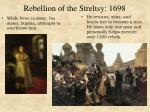 rebellion of the streltsy 1698