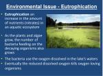 environmental issue eutrophication