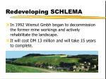 redeveloping schlema
