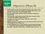 objectives phase ii