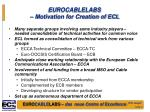eurocablelabs motivation for creation of ecl