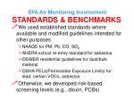 epa air monitoring involvement standards benchmarks